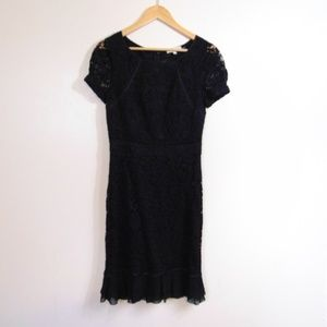 Tory Burch Black Lace Cap Sleeve Dress